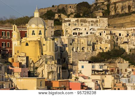 The Church of our Lady Grace in Procida in Italy poster
