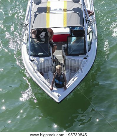 A Boy At The Bow, Bridgewater Channel, London Bridge, Lake Havasu City