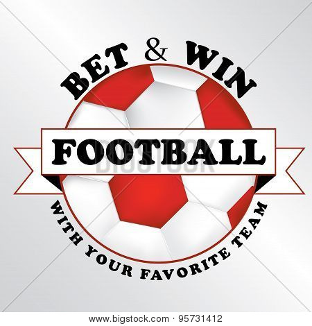 Sport Bet advertising sticker for print