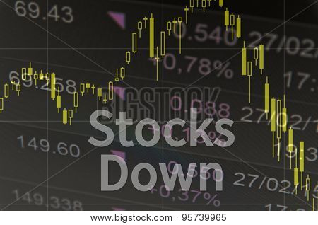 Stocks down