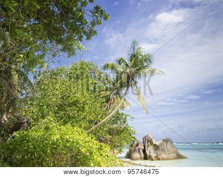 La Digue Island  Beach