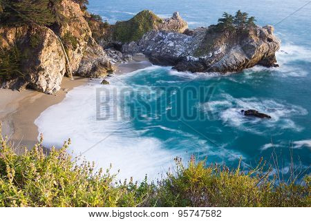 Coastal Waterfall, California