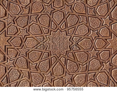 Decorative Wooden Carving With Islamic Persian Design