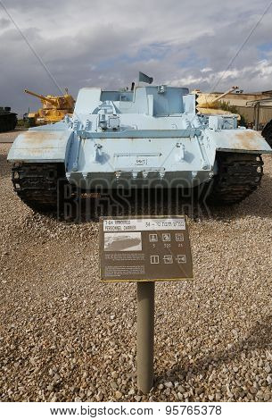 T-54 armoured personnel carrier on display