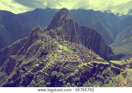 Breathtaking View From Machu Picchu Mountain.