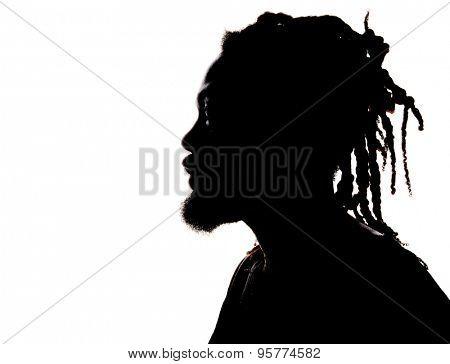 Very Nice Image Silhouette of a rastafarian Man