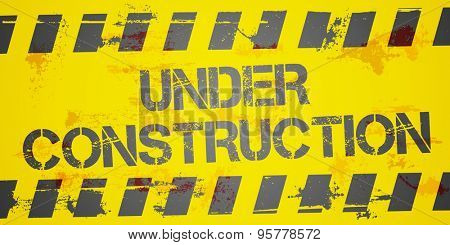 detailed illustration of a grungy Under Construction background, eps10 vector