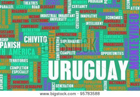 Uruguay as a Country Abstract Art Concept