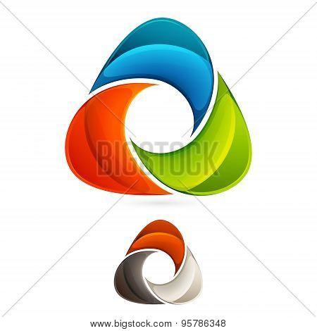 Abstract Triangle Vector Logo