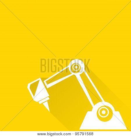 vector robotic arm symbol. robot hand.