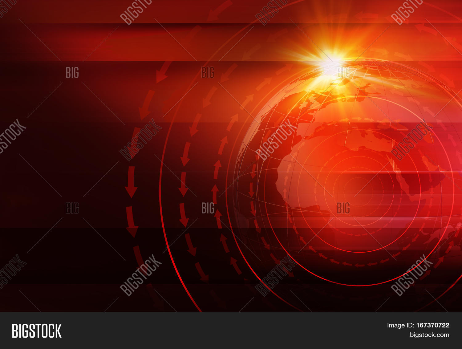 Graphical news background world map image photo bigstock graphical news background with world map and round circles and direction around the erath globe gumiabroncs Images