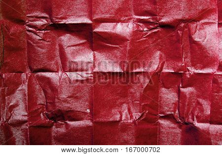 red tissue paper texture for background, copy space