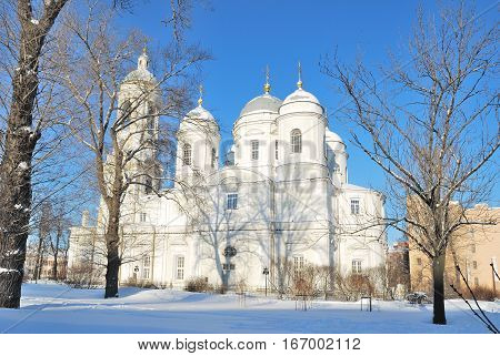 St. Petersburg Russian Federation. St. Vladimir's Cathedral in a sunny winter day