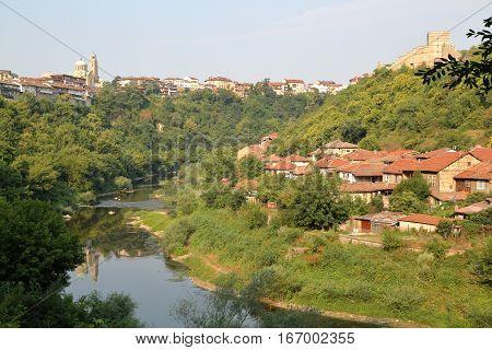 VELIKO TARNOVO, BULGARIA: The town and the Yantra river