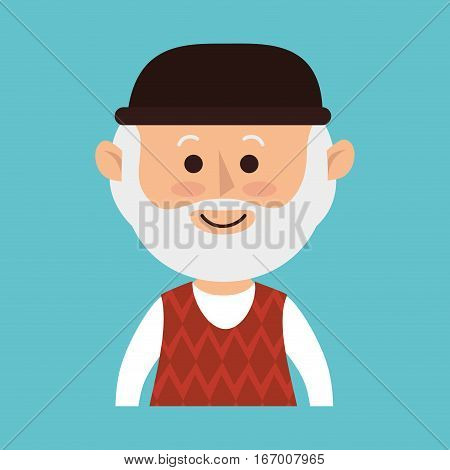grandfather avatar character icon vector illustration design