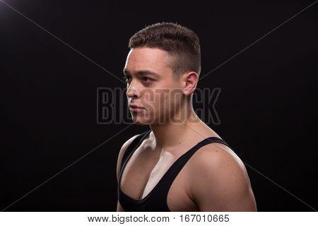 Man Adult Looking Sideways Handsome