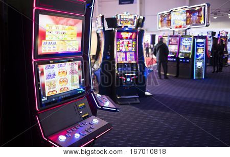Slot Machine In A Casino