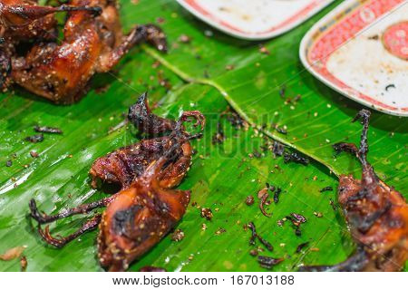 Partridge Or Quail Grilled