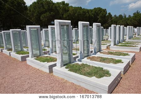 Turkish Military Cemetery in Gallipoli Peninsula,Canakkale, Turkey