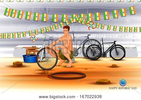 easy to edit vector illustration of Indian background for Happy Republic Day of India