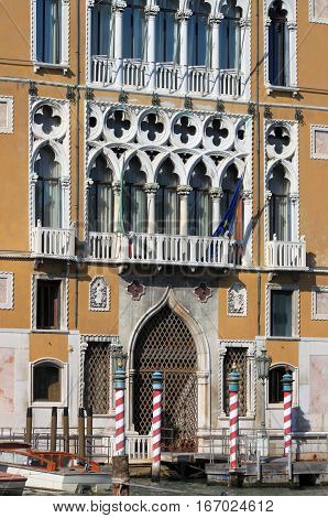 Renaissance palace in the Grand Canal of Venice, Italy