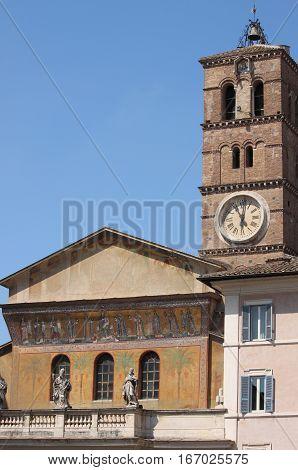 Saint Mary in Trastevere church in Rome, Italy