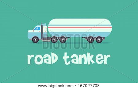 Transportation of road tanker vector collection stock