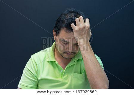 Anxious Man Feeling Sadness
