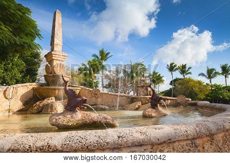 Fountain In Altos De Chavon
