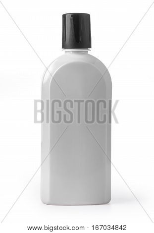 plastic cosmetic bottle isolated on white background with clipping path