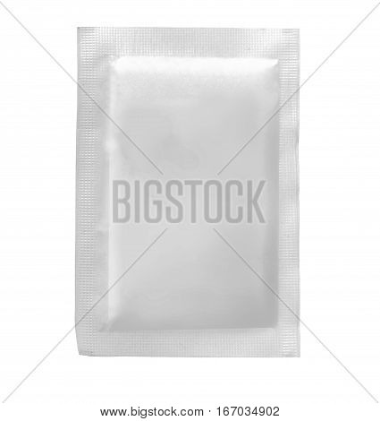 Packaging Sachet for Tea Coffee Sugar isolated on white