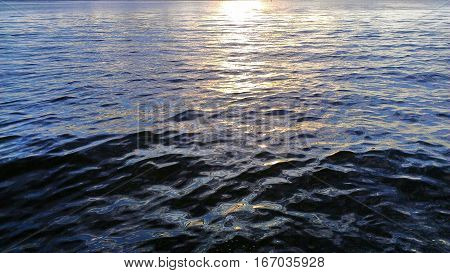 Crisp calm morning on the intercoastal waterway south Florida