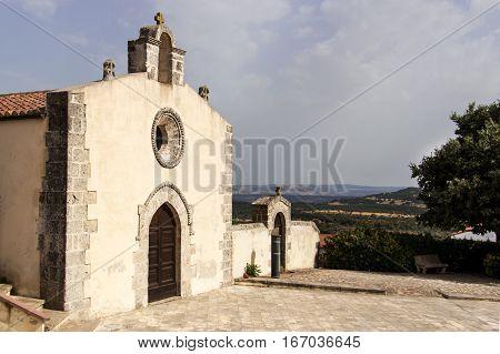 Church of Sint Antonio in Monteleone Rocca Doria Sardinia