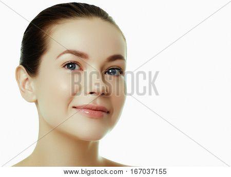 Daily Makeup. Beautiful Face Of A Young Caucasian Woman