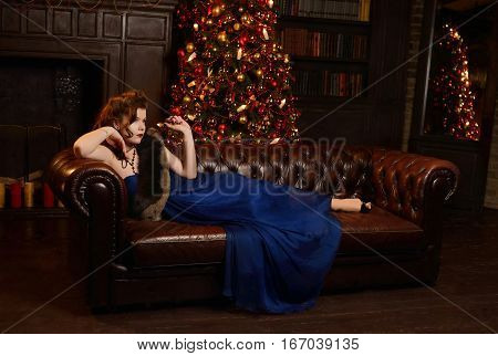 Enigmatical Woman In Home Interior