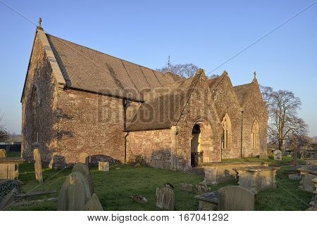 Evening Sun on St Andrews Church Woolaston Severnside Gloucestershire