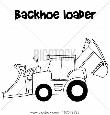 Vector of backhoe loader cartoon collection stock