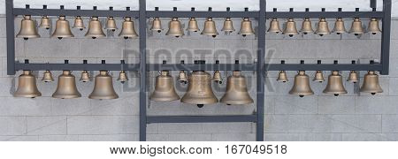 Traditional church bells of the famous Saint Stefan citadel from Baia Mare city Romania
