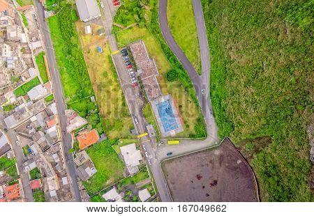 Banos De Agua Santa Latin American City View From The Top Ecuador South America