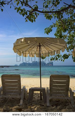 Relax and enjoy your vacation with summer beach and sea (picture from Phi Phi Island - Thailand)