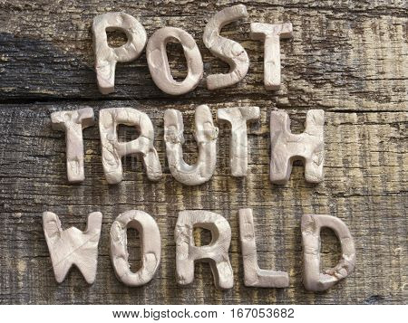 Post Truth concept