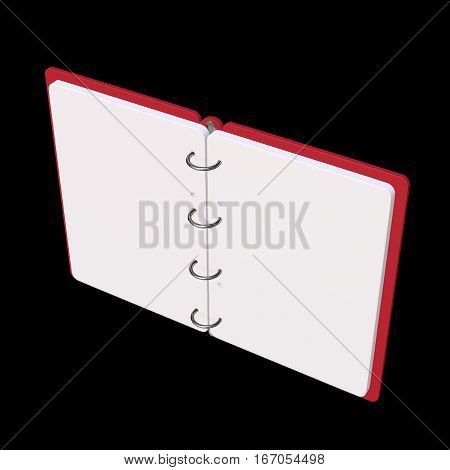 3D Illustration Of Blank Notepad