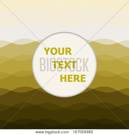 Abstract yellow background with curve lines, stock vector
