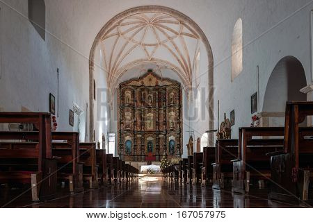 Interior Of The Monastery Of San Bernardine Of Siena