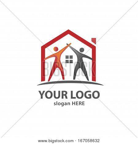 Care Home Creative And Symbolic neighborhood Logo Design Illustration