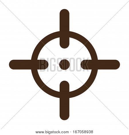 Aim to fire the gun accurately icon image vector illustration