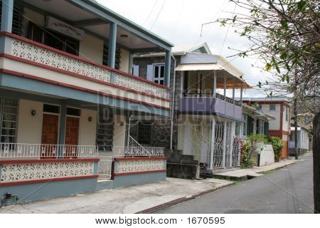 Side Street In Dominica