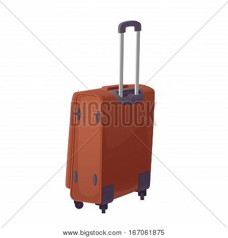 Valise on a white background. Isolated Bag Vector.