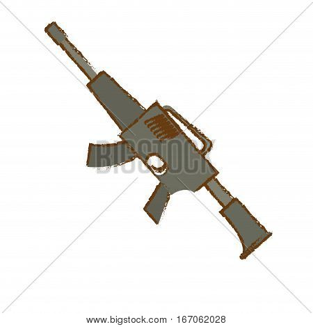 War rifle of gray color for soldiers navy tool vector illustration