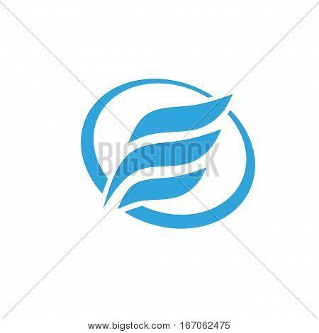 letter E with circle logo .fast sport letter f logo, letter E wing logo vector